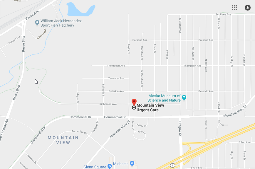 Mountain View Urgent Care Address Map